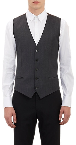 Herringbone-Stripe Waistcoat by Dolce & Gabbana in The D Train