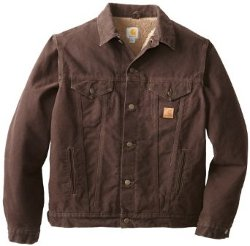 Men's Sandstone Duck Jean Jacket by Carhartt in Taken 3