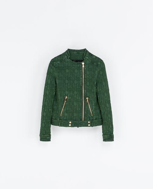 Jacquard Jacket with Zips by Zara in Pretty Little Liars - Season 6 Episode 17