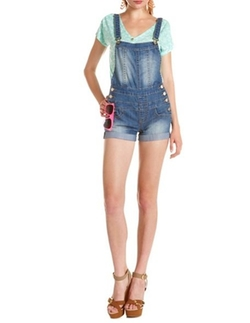 Light Wash Shortalls by Hot Kiss in Pitch Perfect 2