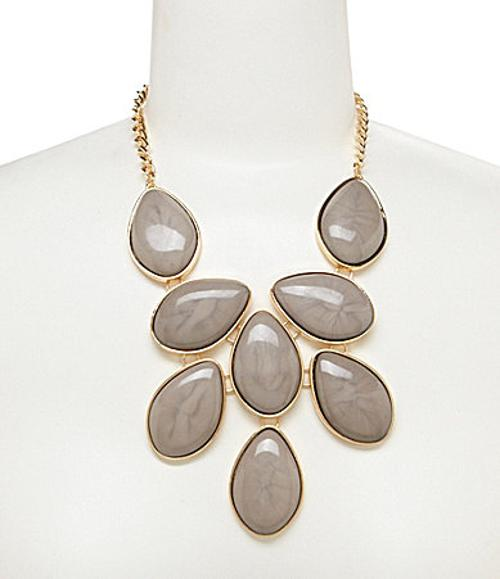 Large Oval Statement Necklace by Natasha in Blended