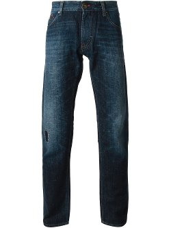Stone Washed Straight Leg Jeans by Armani Jeans in Run All Night