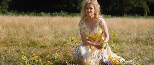 Custom Made Yellow Floral Dress (Cinderella's Mother) by Sandy Powell (Costume Designer) in Cinderella