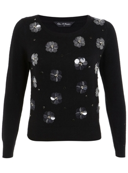Embellished Flower Jumper by Miss Selfridge in Me Before You