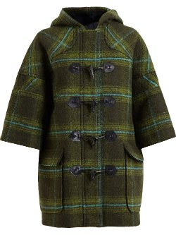 Check Duffle Coat by MSGM in If I Stay