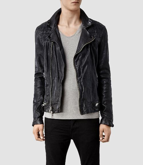 Conroy Leather Biker Jacket by All Saints in Ouija