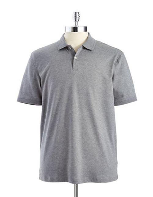Short-sleeved Polo Shirt by Calvin Klein in Nightcrawler
