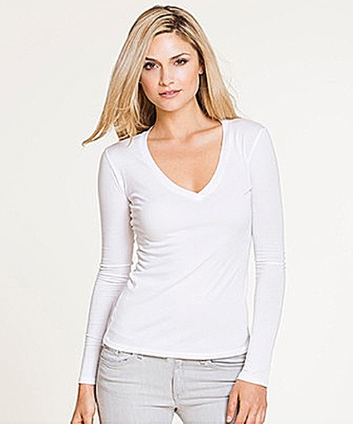 V-Neck Long Sleeve Tee by Six Twenty in The Girl on the Train