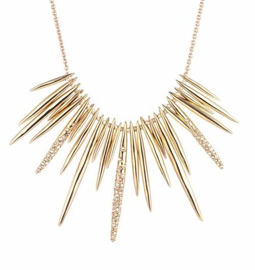 Spike Bib Necklace by Alexis Bittar in Gossip Girl - Series Looks