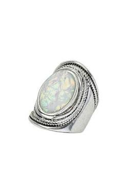 Topshop Chunky Mystic Stone Ring