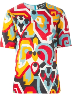 Abstract Print Top by Dsquared2 in Empire