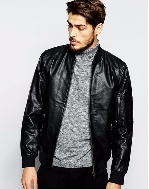 Faux Leather Bomber Jacket by Produkt in Popstar: Never Stop Never Stopping