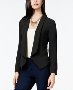 Shawl-Collar Open-Front Jacket by CeCe in Pretty Little Liars