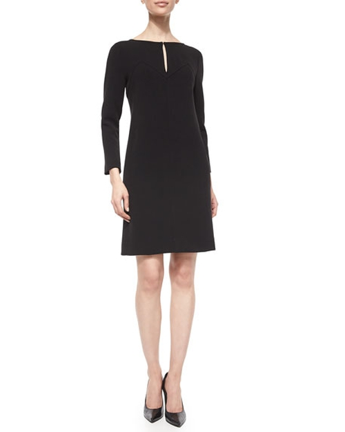 Long-Sleeve Shift Dress by Lela Rose in The Good Wife