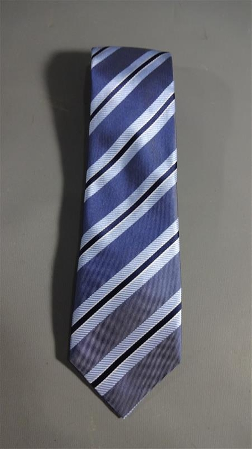 Blue Striped Necktie by Linea In in Poltergeist