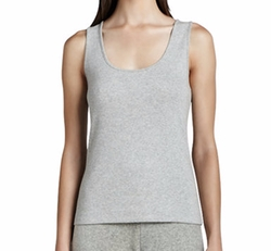 Scoop-Neck Cotton Tank Top by Joan Vass in Shadowhunters
