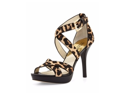 Evie Calf-Hair Sandals by Michael Kors in Fuller House