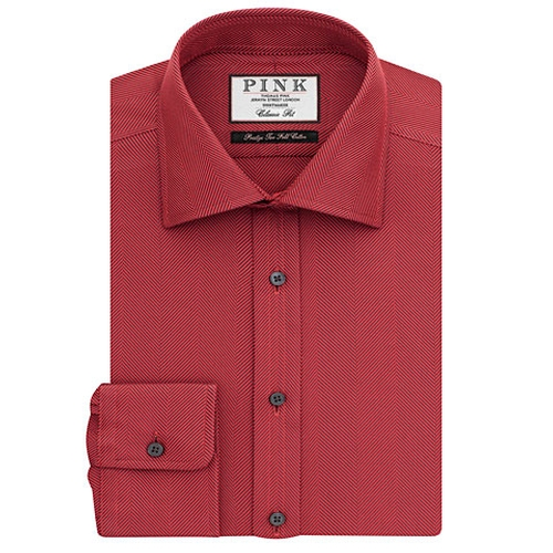 Bedford Texture Classic Fit Button Cuff Shirt by Thomas Pink in Scarface