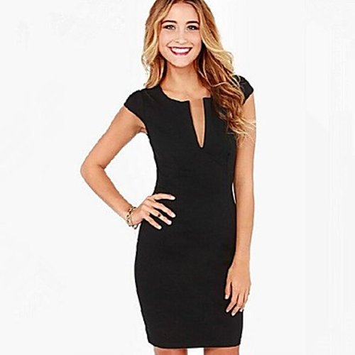 V Neck Slim Dress by Light In The Box in The Town