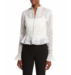 Vintage Eyelet Lace Blouse by Nicholas in Suits