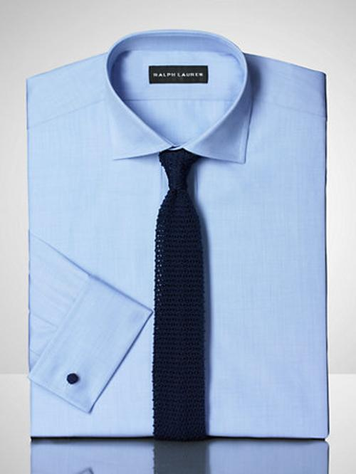 Solid Broadcloth French Shirt by Ralph Lauren in Mortdecai