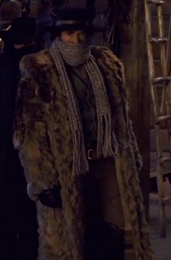 Custom Made 'Demian Bichir' Fur Coat by Courtney Hoffman (Costume Designer) in The Hateful Eight