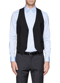 Wool Blend Waistcoat Vest by Armani Collezioni in Begin Again