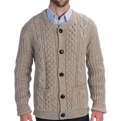Cable-Knit Crew Cardigan Sweater by J.G. Glover in Bridge of Spies