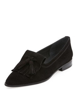 Avatass Suede Tassel Loafer Shoes by Stuart Weitzman in The Good Wife