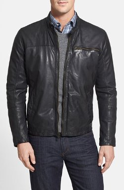 Lambskin Leather Moto Jacket by Cole Haan in The Best of Me