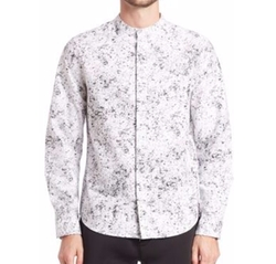 Anthony Davis Long Sleeve Printed Shirt by Saks Fifth Avenue in Scream Queens