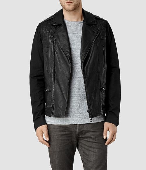 Dial Leather Biker Jacket by Allsaints in Yves Saint Laurent