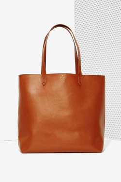 Commuter Leather Tote Bag by Kelsi Dagger in Quantico