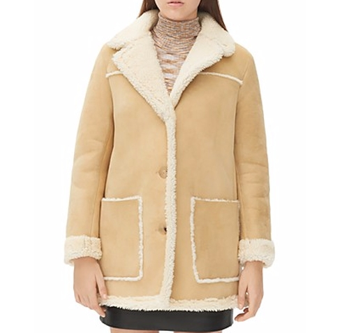 Meora Shearling Coat by Sandro in Empire - Season 2 Episode 15