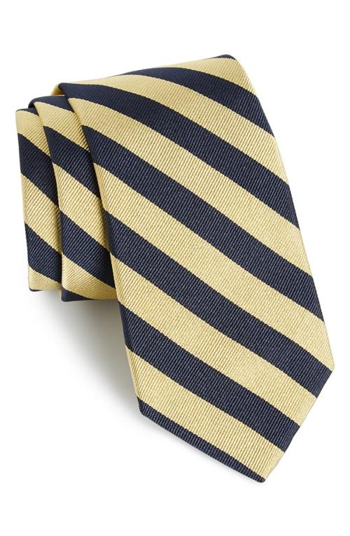Stripe Silk Tie by Gitman in The Judge