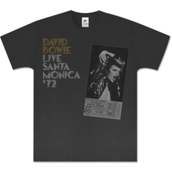 David Bowie Live In Santa Monica '72 T-Shirt by Merchbar in Popstar: Never Stop Never Stopping