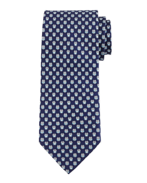 Owl-Print Silk Tie by Salvatore Ferragamo in Scandal - Season 5 Episode 1