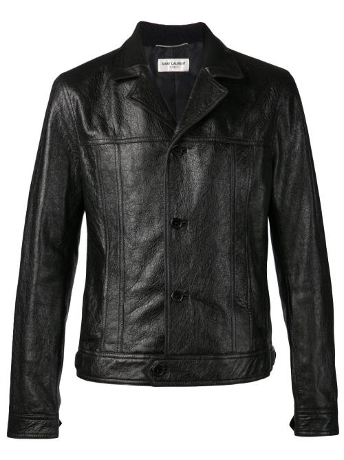 Leather Jacket by Saint Laurent in Savages