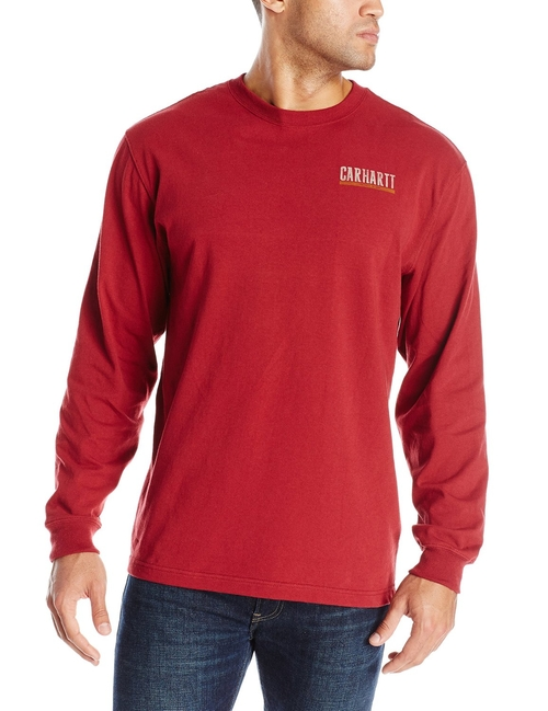 Graphic Block Long Sleeve T-Shirt by Carhartt in Eddie The Eagle