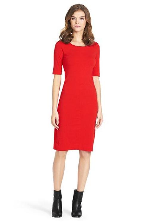 Knit Sheath Dress In Red by Meeson in Transcendence