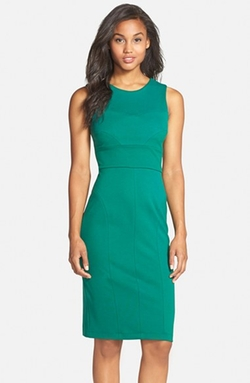 Sleeveless Ponte Knit Sheath Dress by Kut From The Kloth in Supergirl