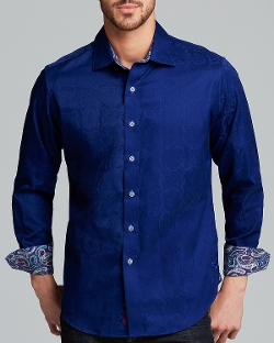Salisbury Damask Button Down Shirt by Robert Graham in The Transporter: Refueled