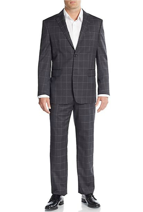 Windowpane-Check Wool Suit by Yves Saint Laurent in The Good Wife - Season 7 Episode 4
