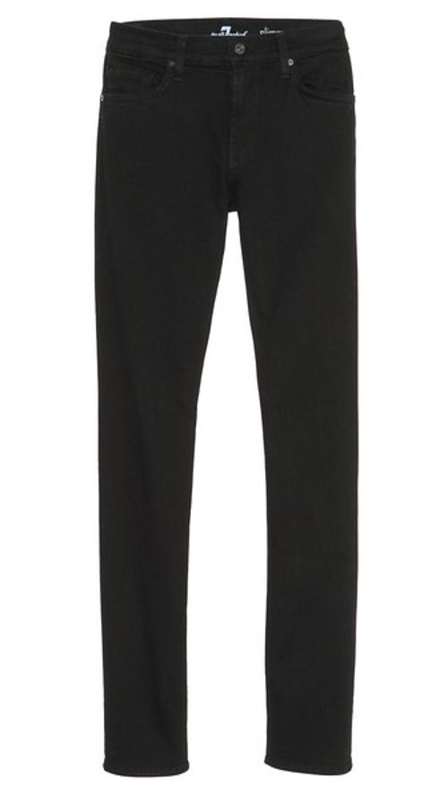 Slimmy Stretch Slim Straight Jeans by 7 For All Mankind in Twilight