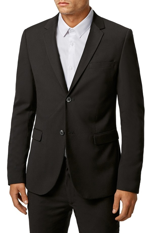 Ultra Skinny Black Suit Jacket by Topman in Pretty Little Liars - Season 6 Episode 12