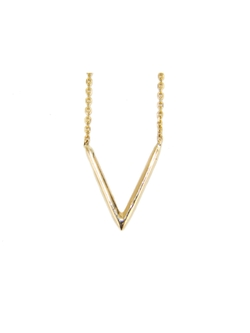 Triangle V Necklace by Wwake in Suits