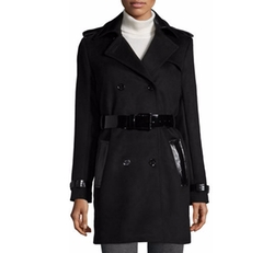 Mixed-Media Trench Coat by Michael Michael Kors in Why Him?