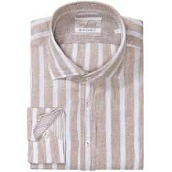 Rivas Linen Shirt - Slim Fit, Long Sleeve by Van Laack in Anchorman 2: The Legend Continues