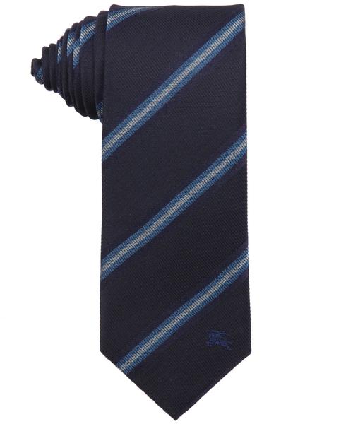 Diagonal Stripe Silk Earl Tie by Burberry London in The Good Wife - Season 7 Episode 12