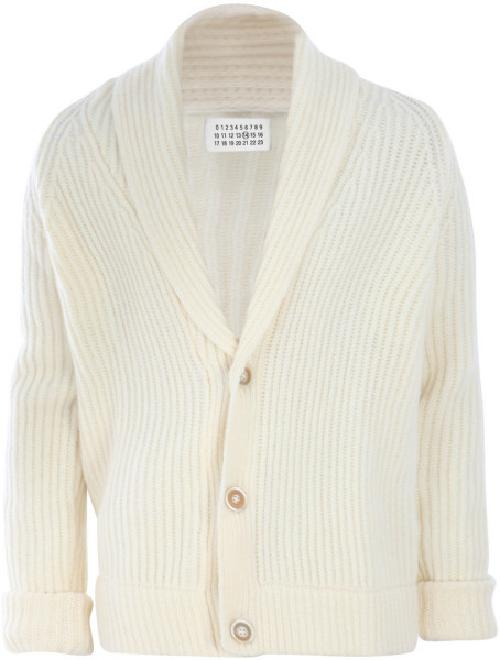 Ribbed-Knit Shawl Collar Cardigan by Bottega Veneta in The Other Woman
